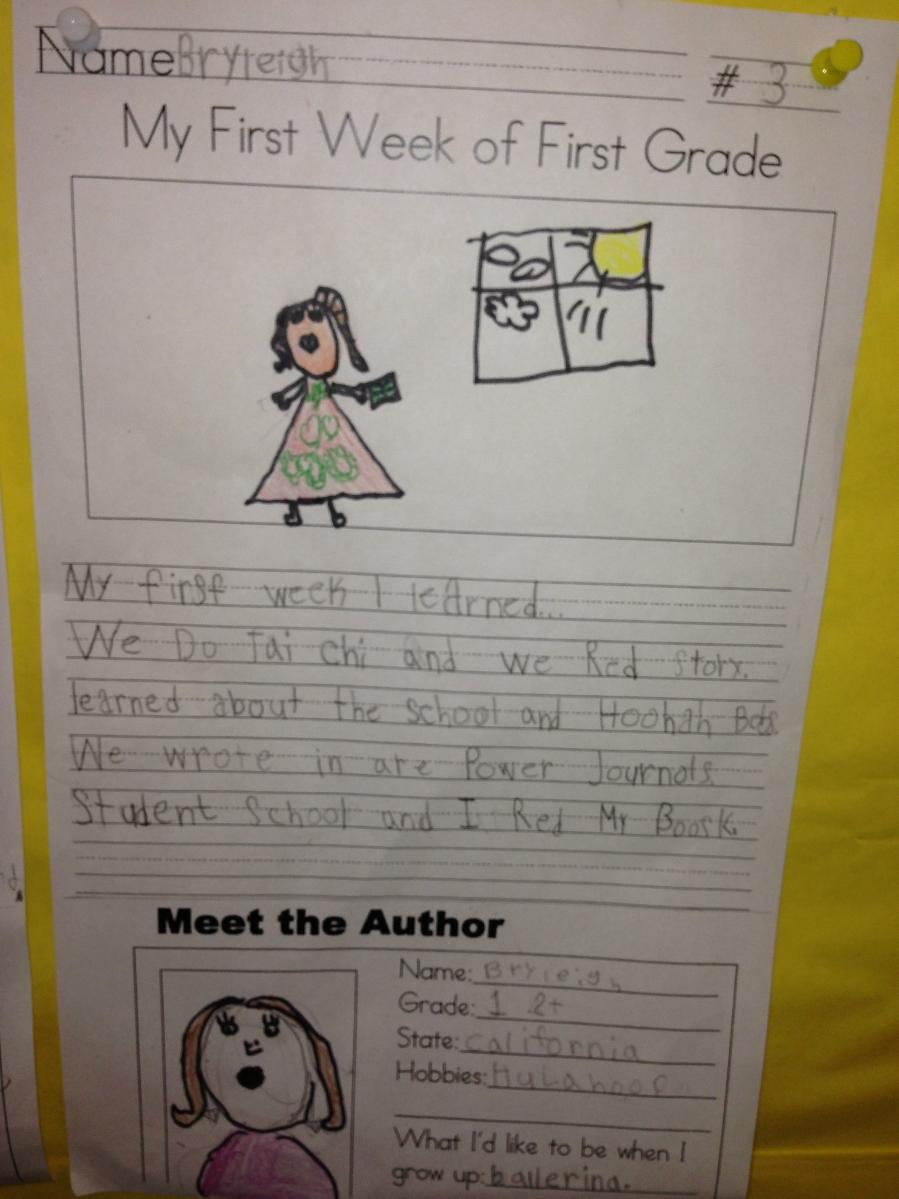 creative writing topics for first grade