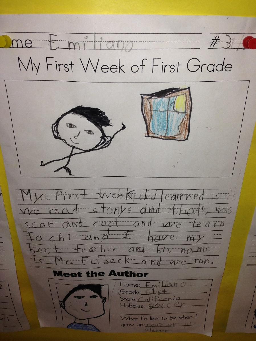 First Grade Writing Standards